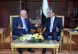 الرئيس الفلسطينى يجتمع مع نظيره المصري
