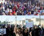 مظاهرات كبيرة بلوشستان والاحواز ضد المحتلين الفرس